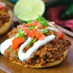 Cheesy Taco Sloppy Joes are one of the easiest and most delicious dinners you will ever make. Bonus points for being made in a one pan.