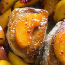 Peach Pork Chops - One Pan
