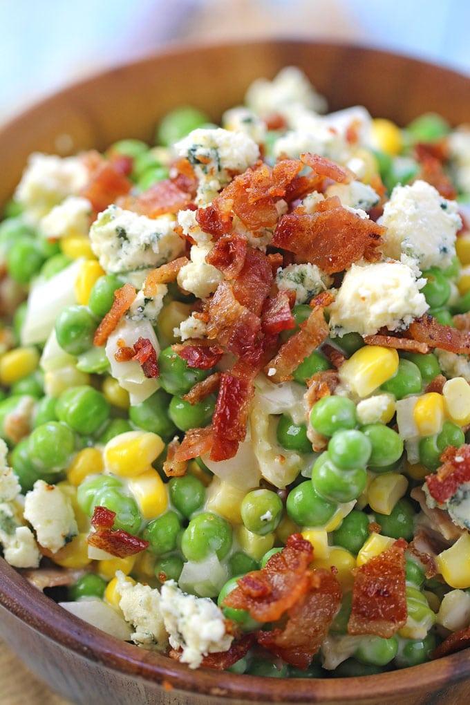 Pea Salad Recipe Bacon