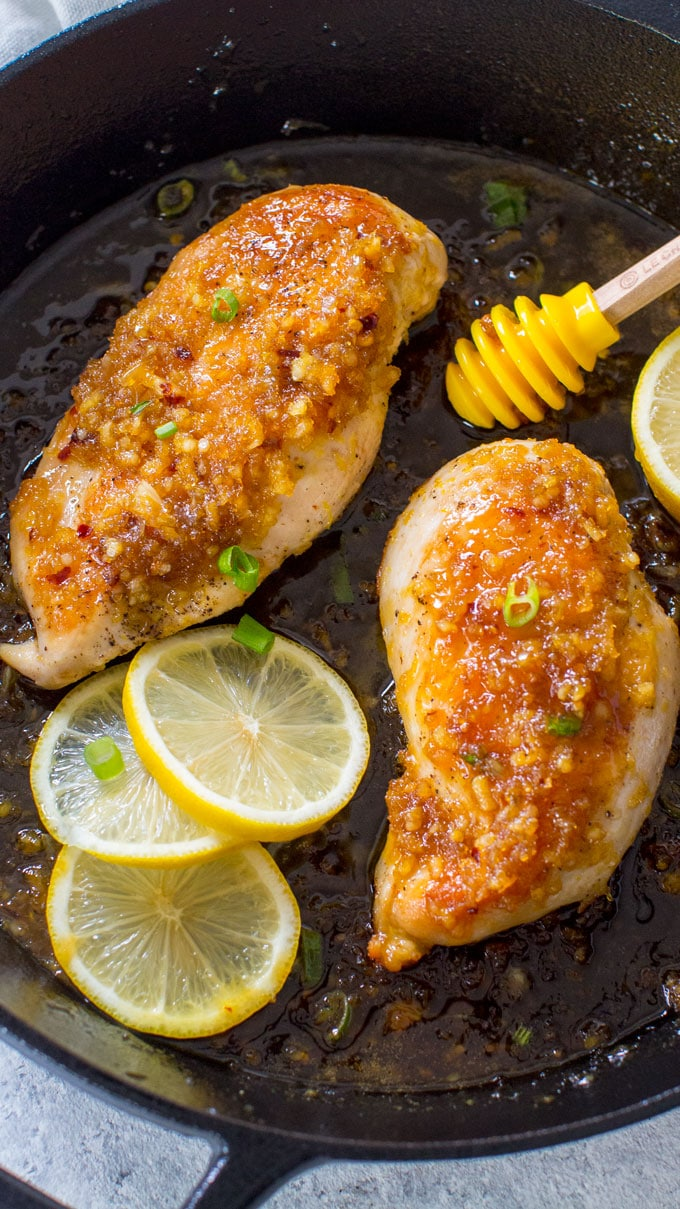 Honey Lemon Garlic Chicken recipe