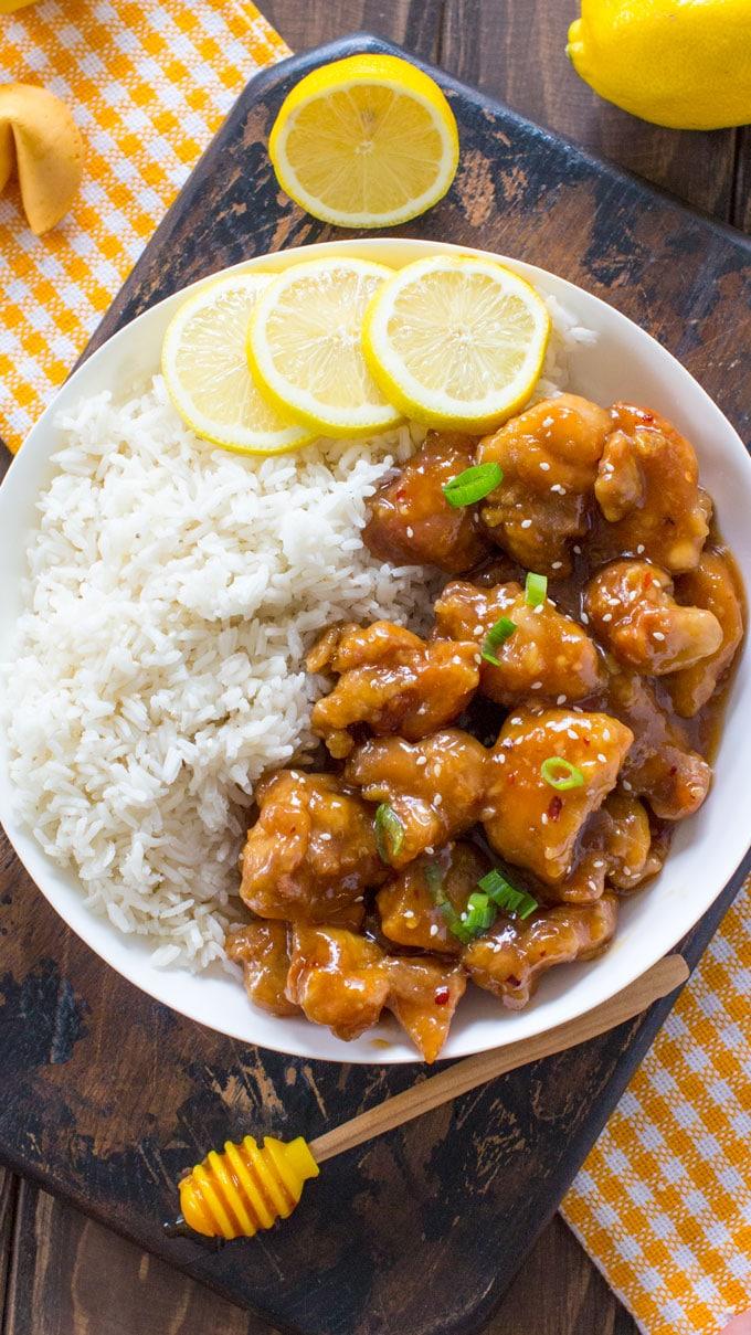 recipe: crispy honey lemon chicken [10]