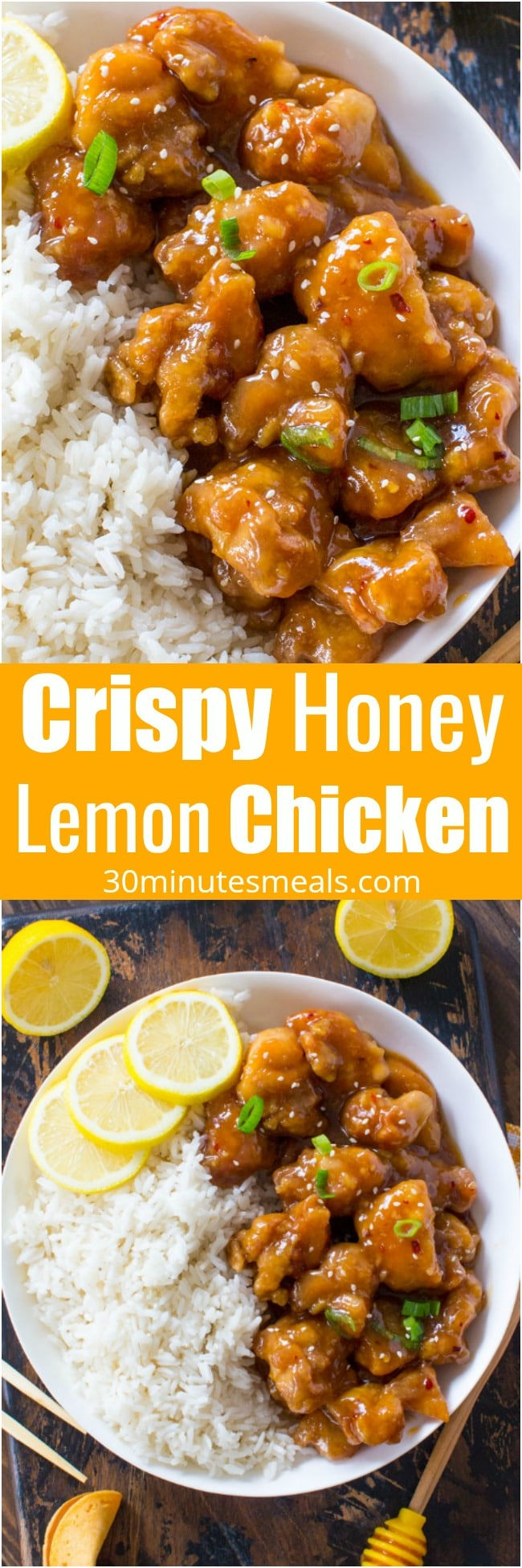 Crispy honey lemon chicken 30minutesmeals chinese crispy honey lemon chicken is a restaurant quality meal made easy at home in forumfinder Images