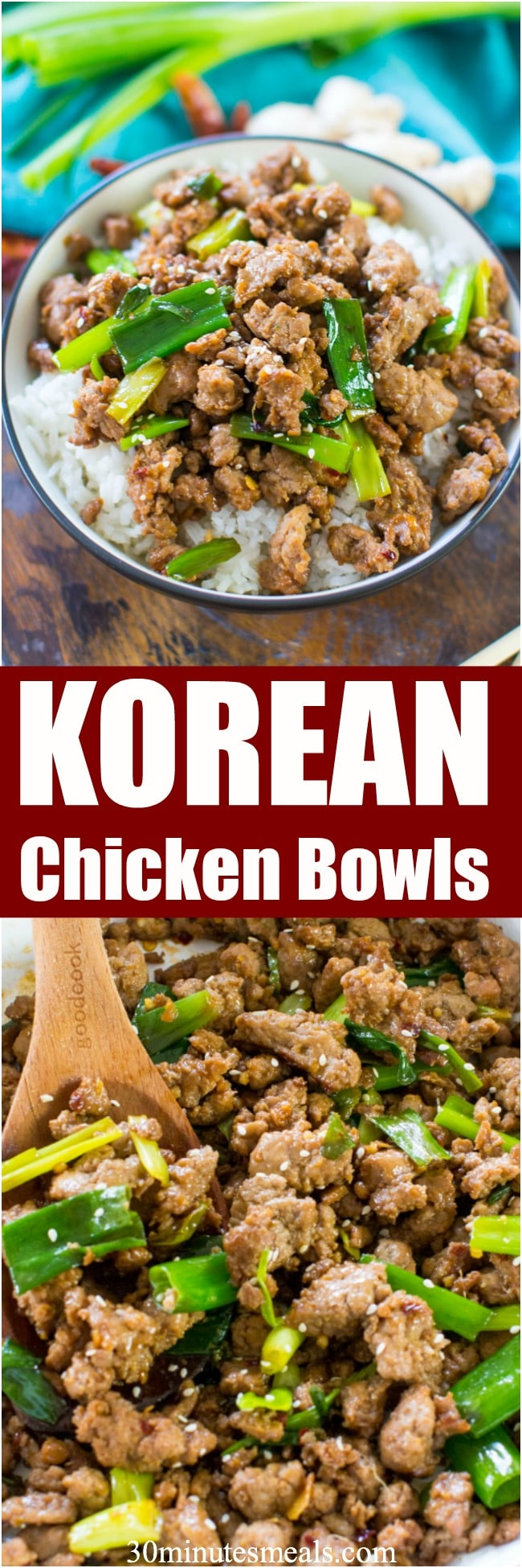 Korean Chicken Bowls are one of the easiest and tastiest dishes you can make in just under 20 minutes. Made in one pan with budget friendly ingredients.