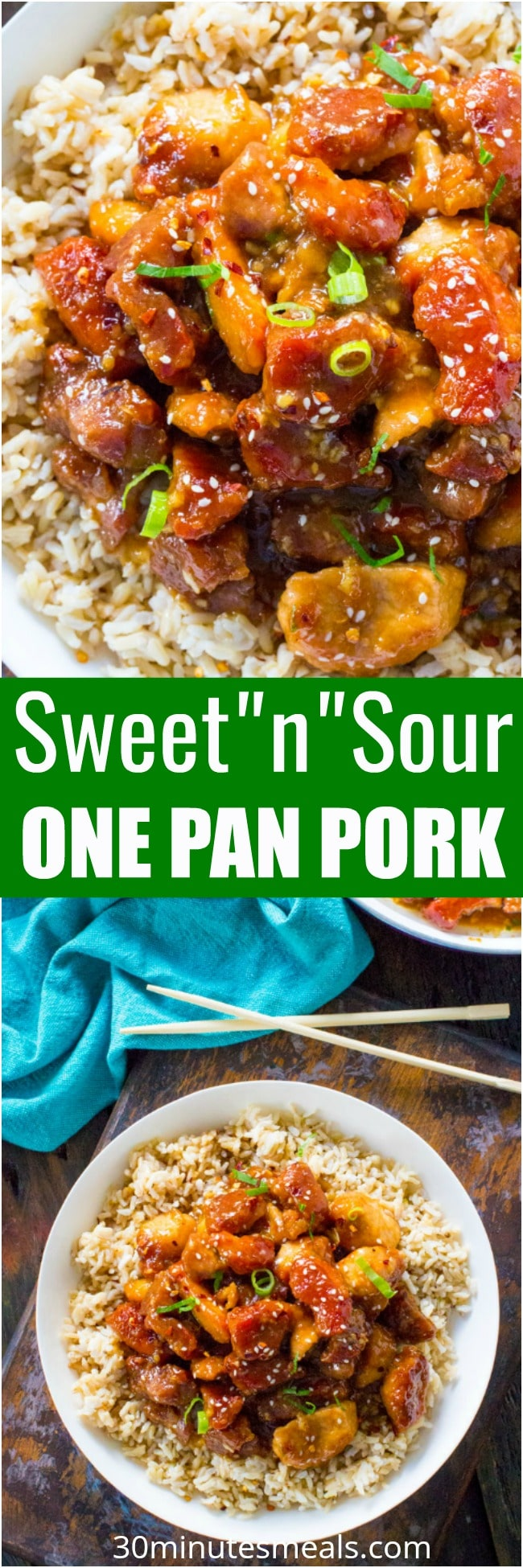 Best Sweet and Sour Pork is a restaurant quality meal that can be easily made at home in one pan. Crispy, sweet, sour and made with budget friendly ingredients.