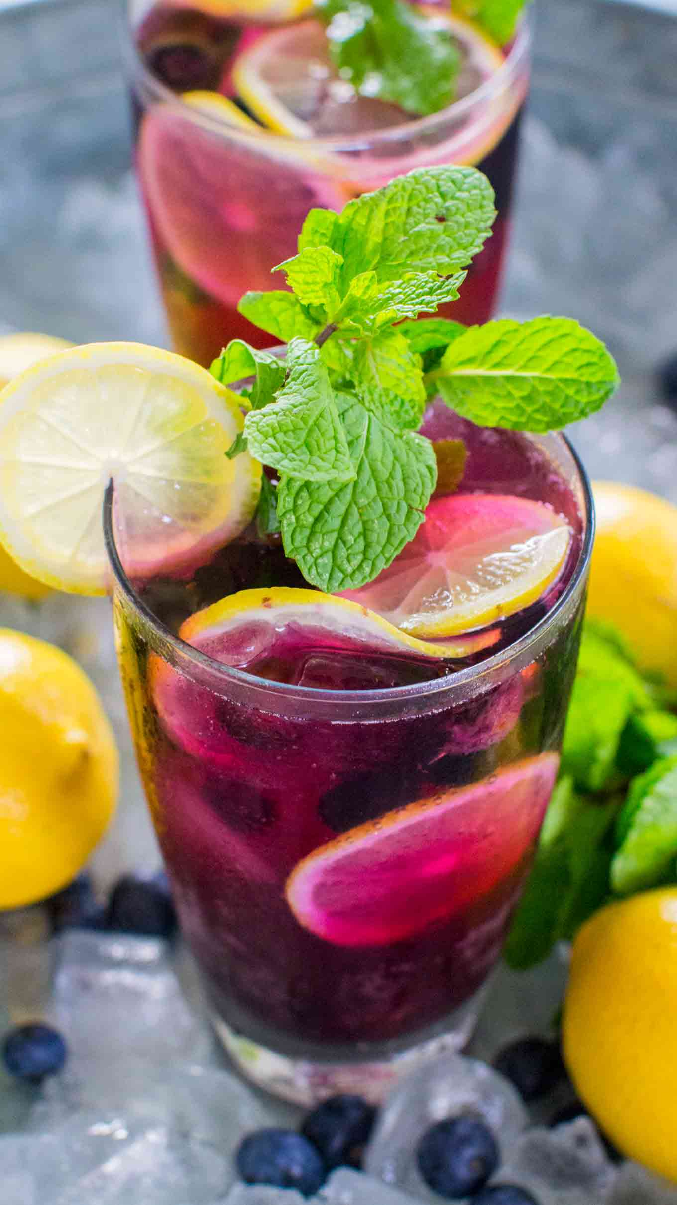 Refreshing Blueberry Lemonade tastes delicious and refreshing year round. Made easy with sweet blueberry simple syrup and fresh lemon juice.