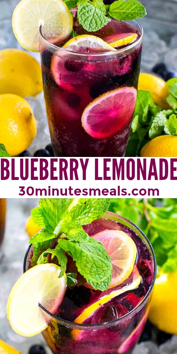 easy blueberry lemonade pin