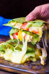 Cheesy Chicken Fajita Quesadilla Recipe