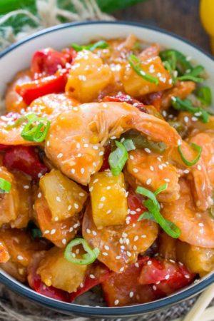 Healthier Sweet and Sour Shrimp