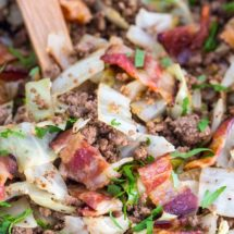 Ground Beef and Cabbage - One Pan (Video)
