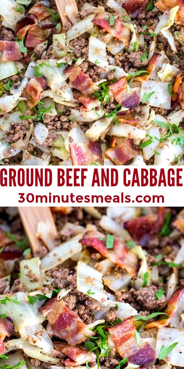easy ground beef and cabbage pin