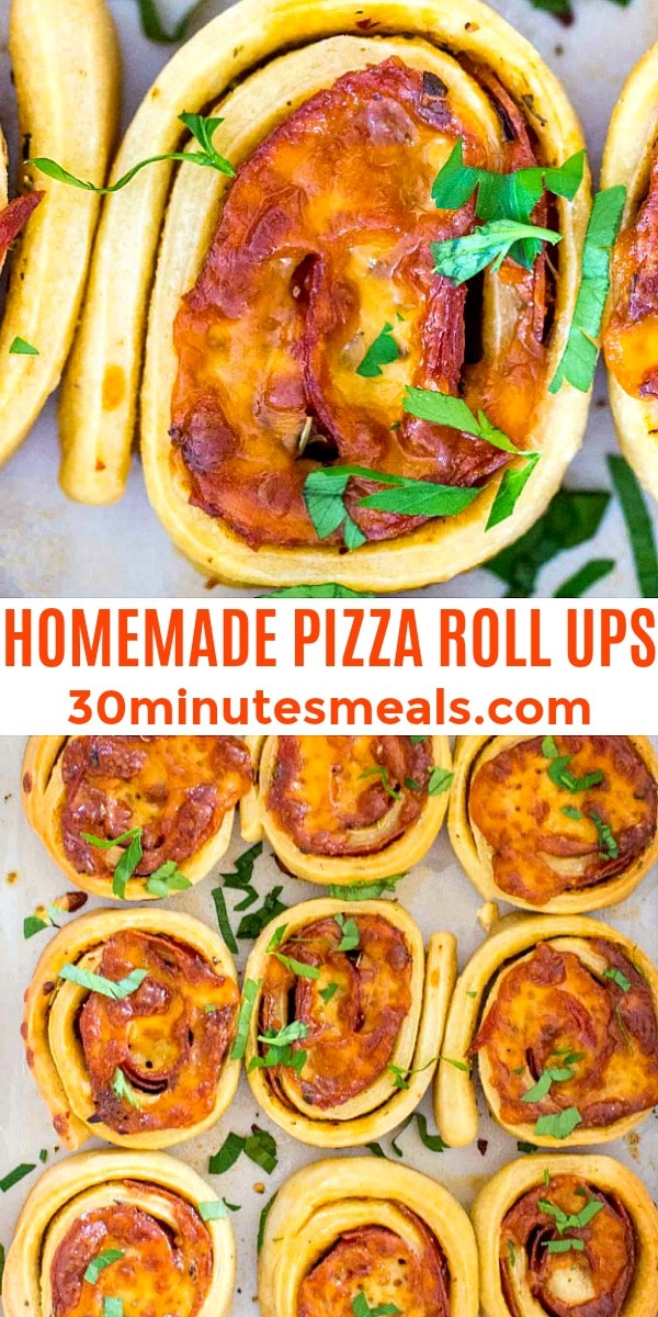 Easy Homemade Pizza Roll Ups pin