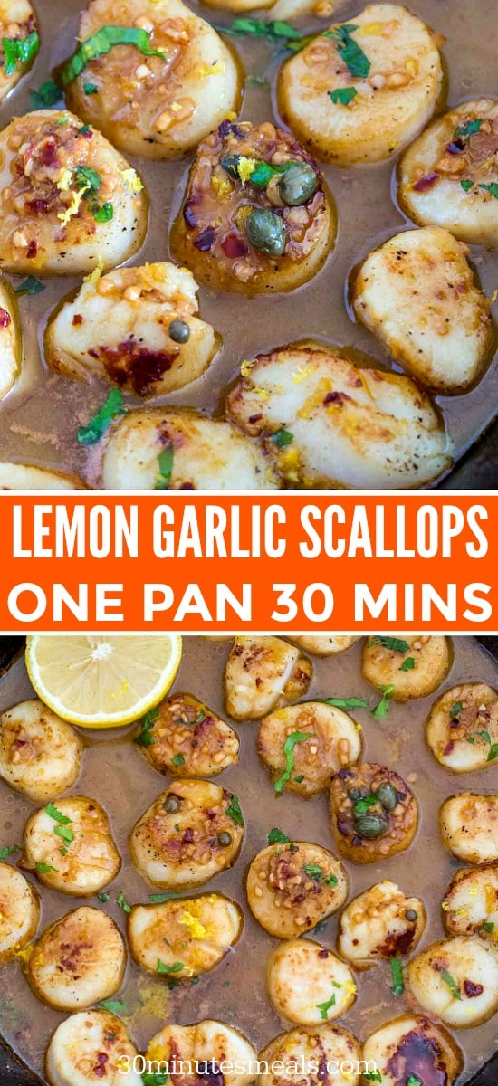 Lemon Garlic Scallops