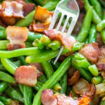 Green Beans with Bacon - 5 Ingredients Only!