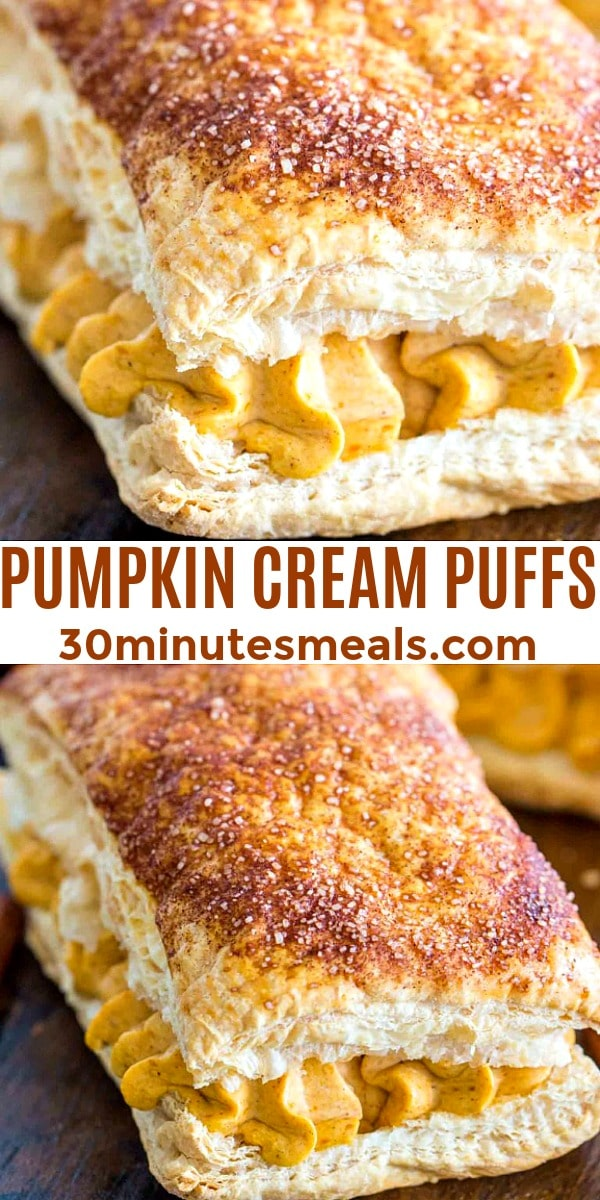 easy pumpkin cream puffs pin