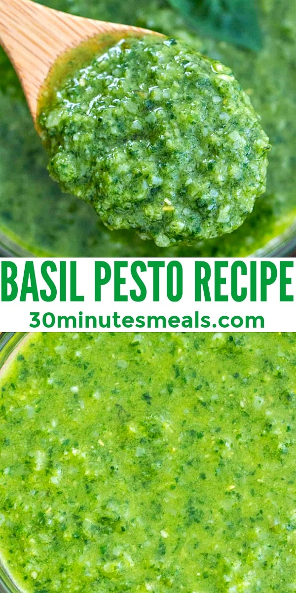 Easy Basil Pesto Recipe pin