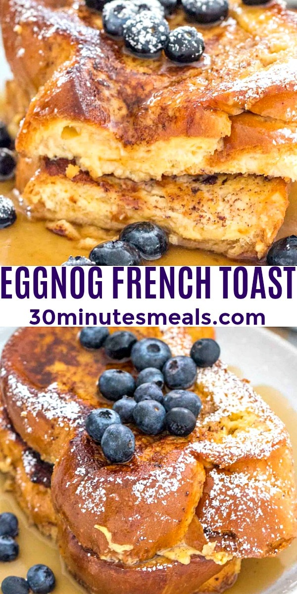 easy eggnog french toast pin