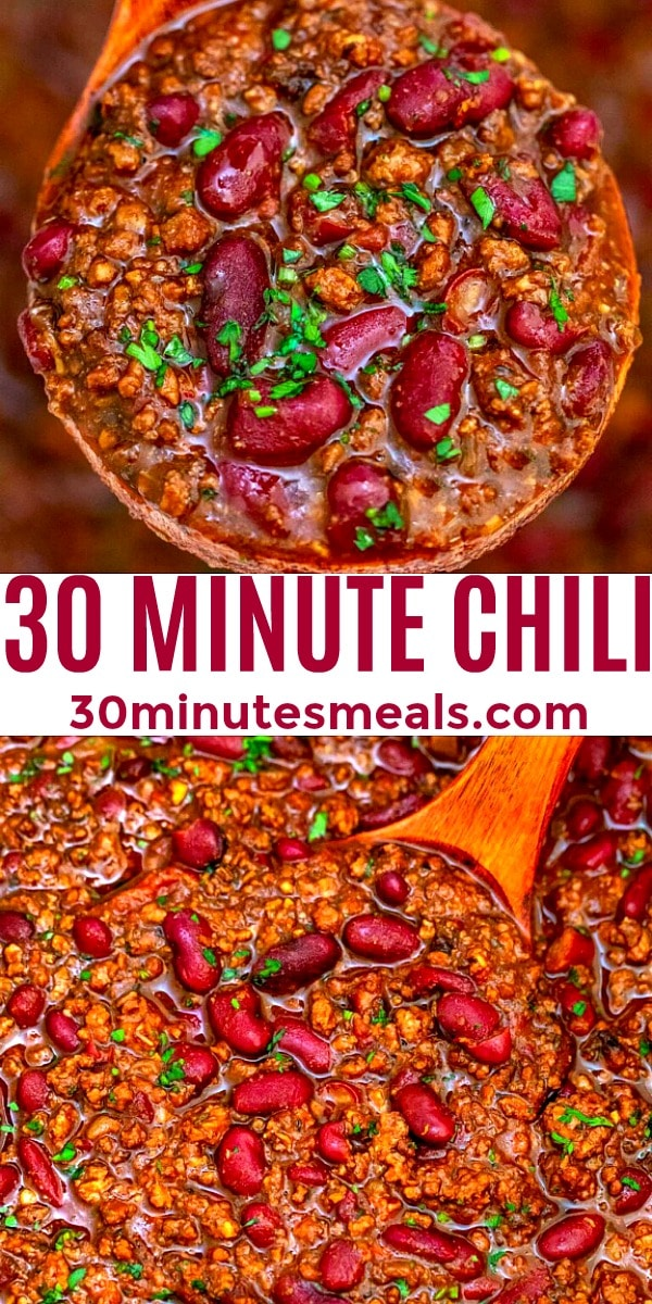 Easy 30 Minute Chili pin