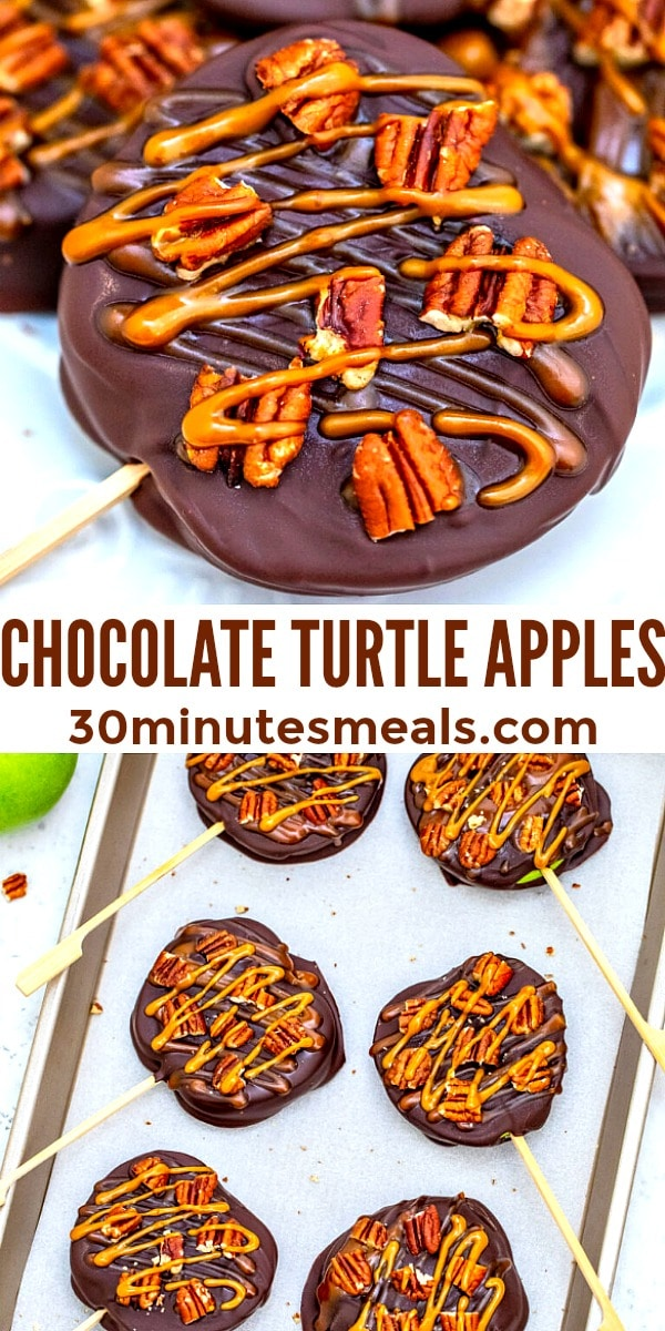 Easy Chocolate Turtle Apple pin