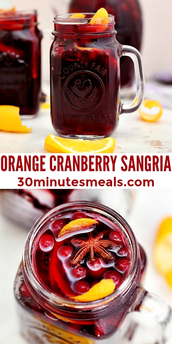 Easy Orange Cranberry Sangria pin