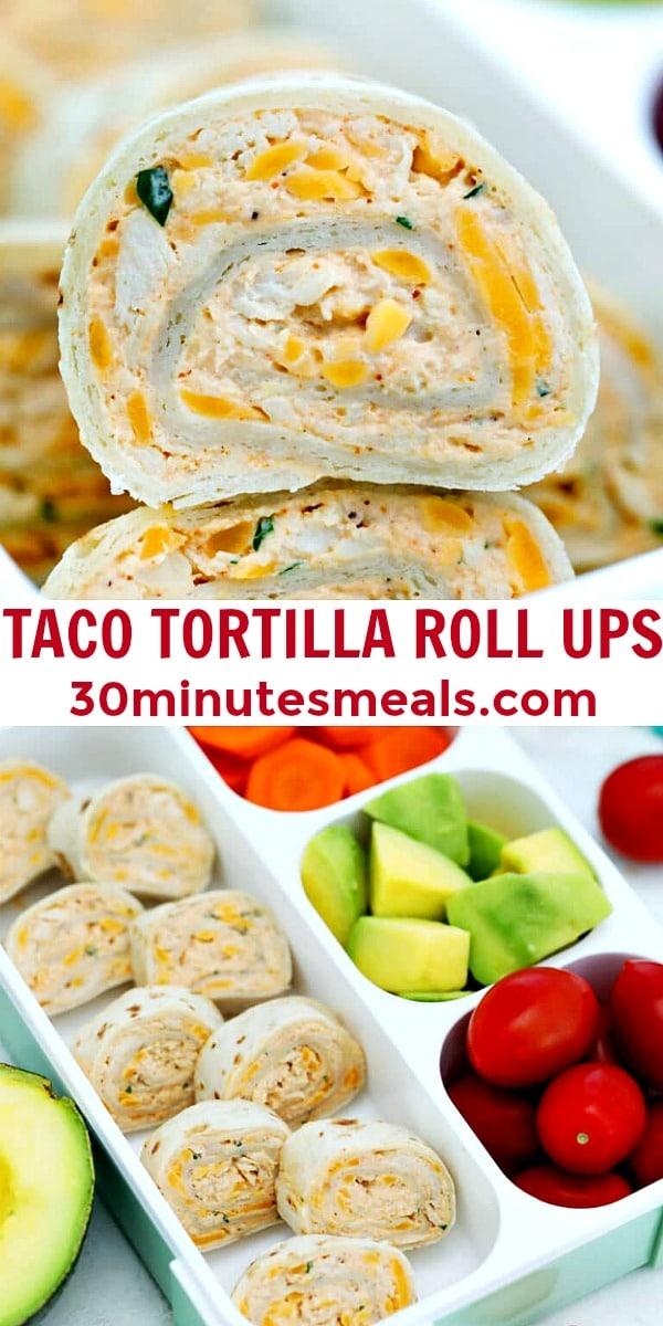 Easy Taco Tortilla Roll Ups pin