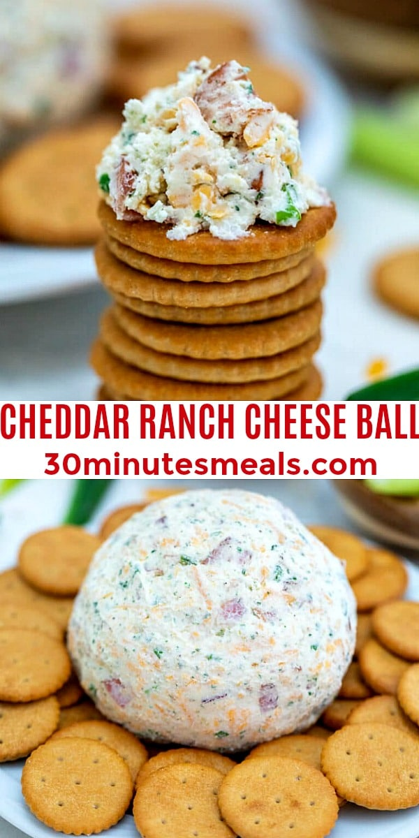 Cheddar Ranch Cheese Ball pin