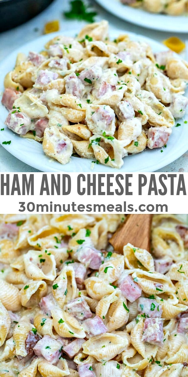 Ham and Cheese Pasta pin