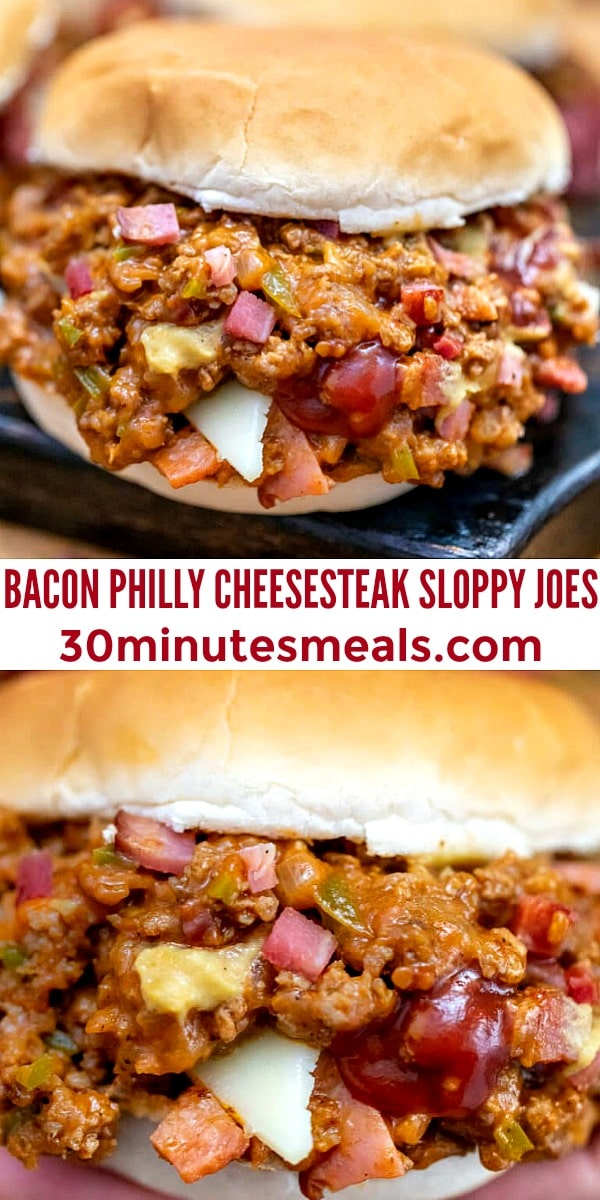 Photo of Bacon Phily Cheesesteak Sloppy Joes