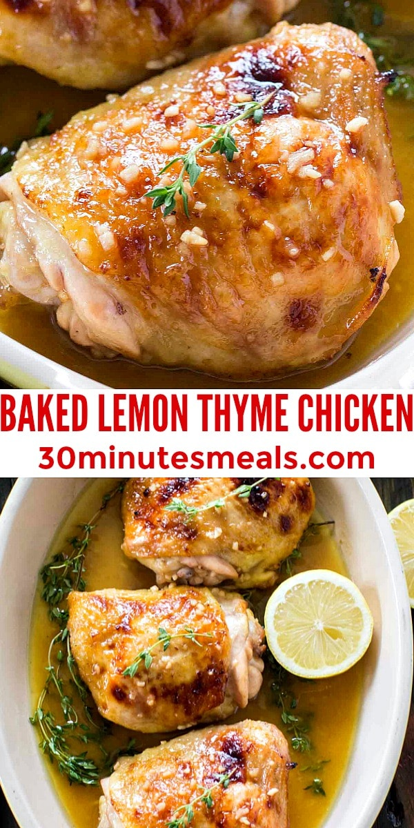 Photo of Baked Lemon Thyme Chicken pin