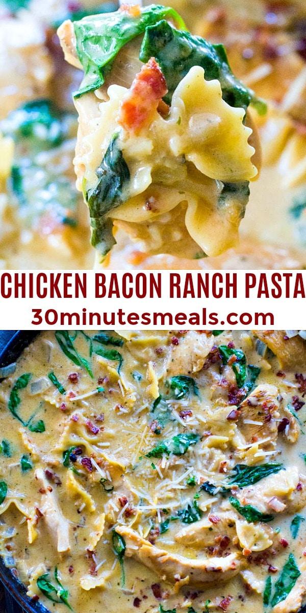 Photo of Chicken Bacon Ranch Pasta