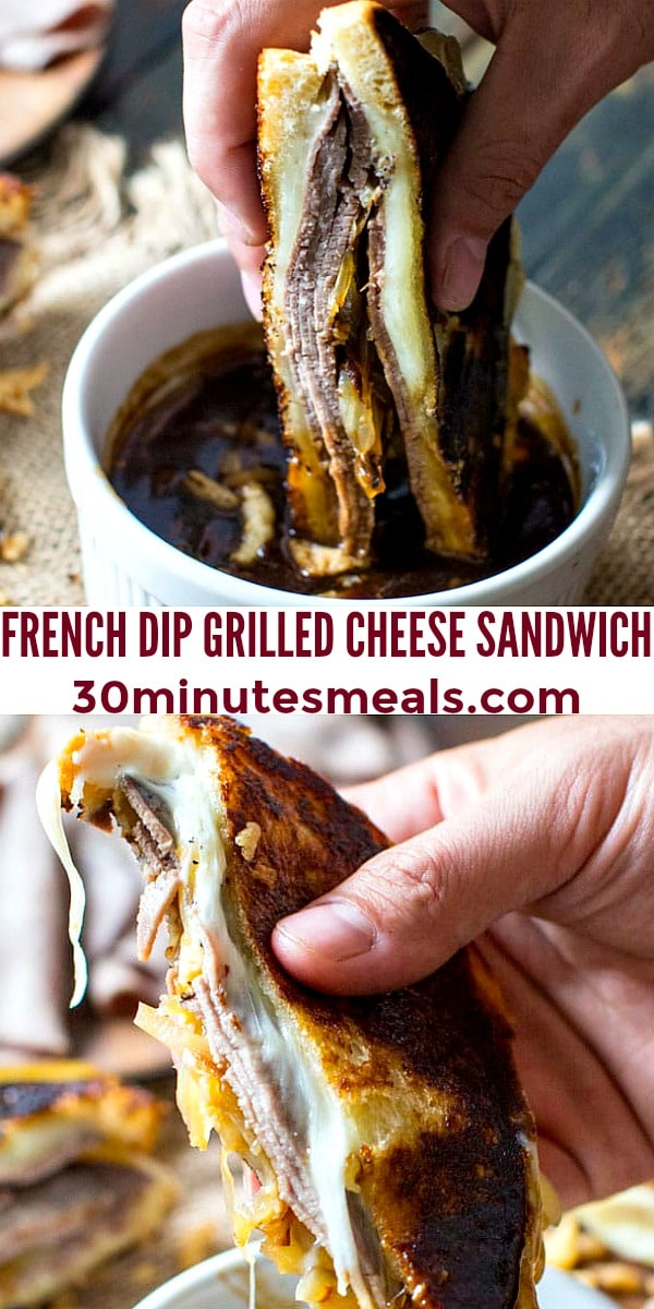 Photo of French Dip Grilled Cheese Sandwich pin