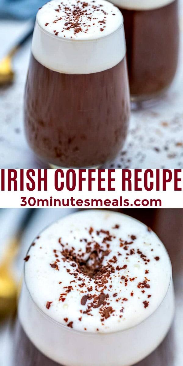 Photo of Irish Coffee Recipe pin
