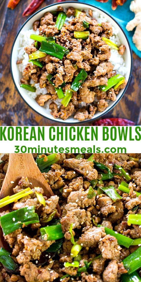 Photo of Korean Chicken Bowls pin