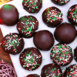 Peanut Butter Balls are super soft, loaded with peanut butter, and topped with a crisp chocolate cover. #peanutbutterballs #peanutbutter #christmasrecipes #christmasdesserts #30minutemeals