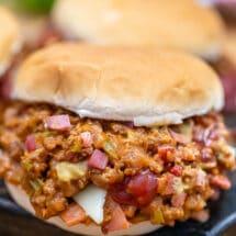 Bacon Philly Cheesesteak Sloppy Joes