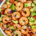This shrimp ceviche recipe is such a refreshing and light appetizer that is perfect for any occasion! #shrimp #shrimprecipes #shrimpceviche #30minutemeals #appetizers