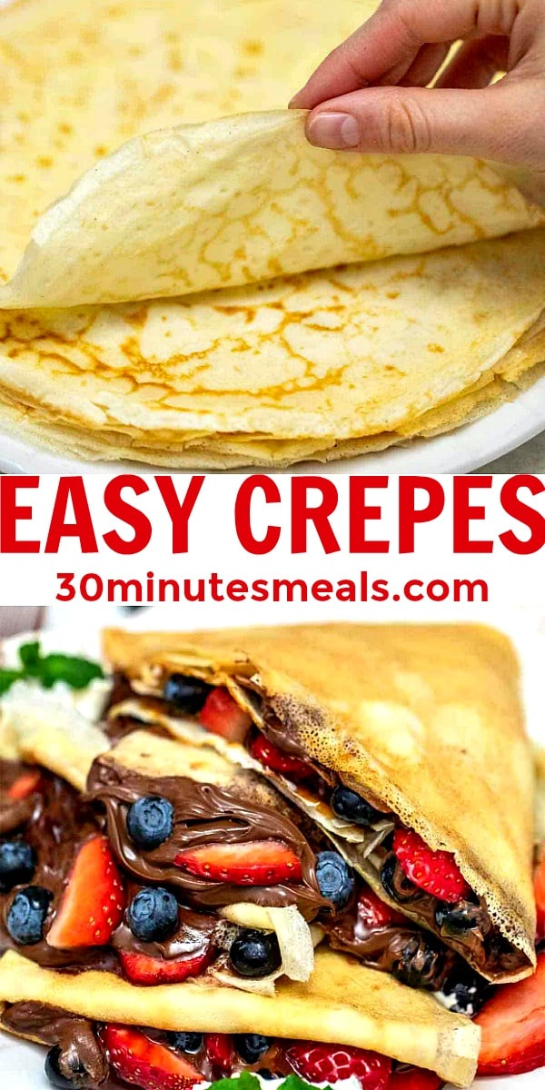 Easy French Crepes pin