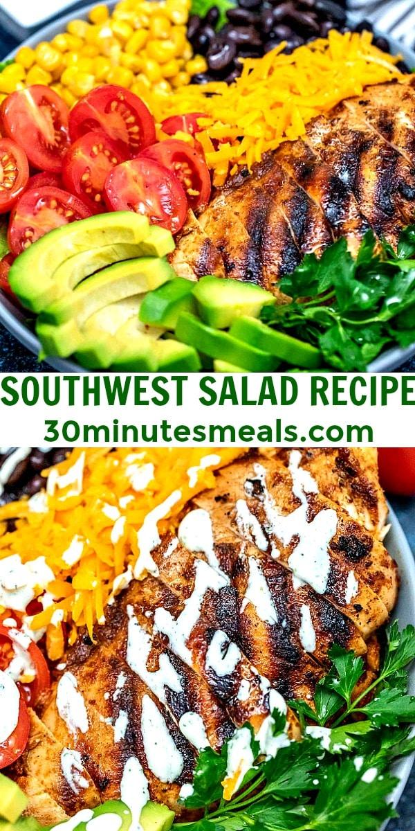 Photo of Southwest Salad Recipe pin