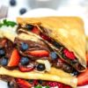 Easy Crepes with berries