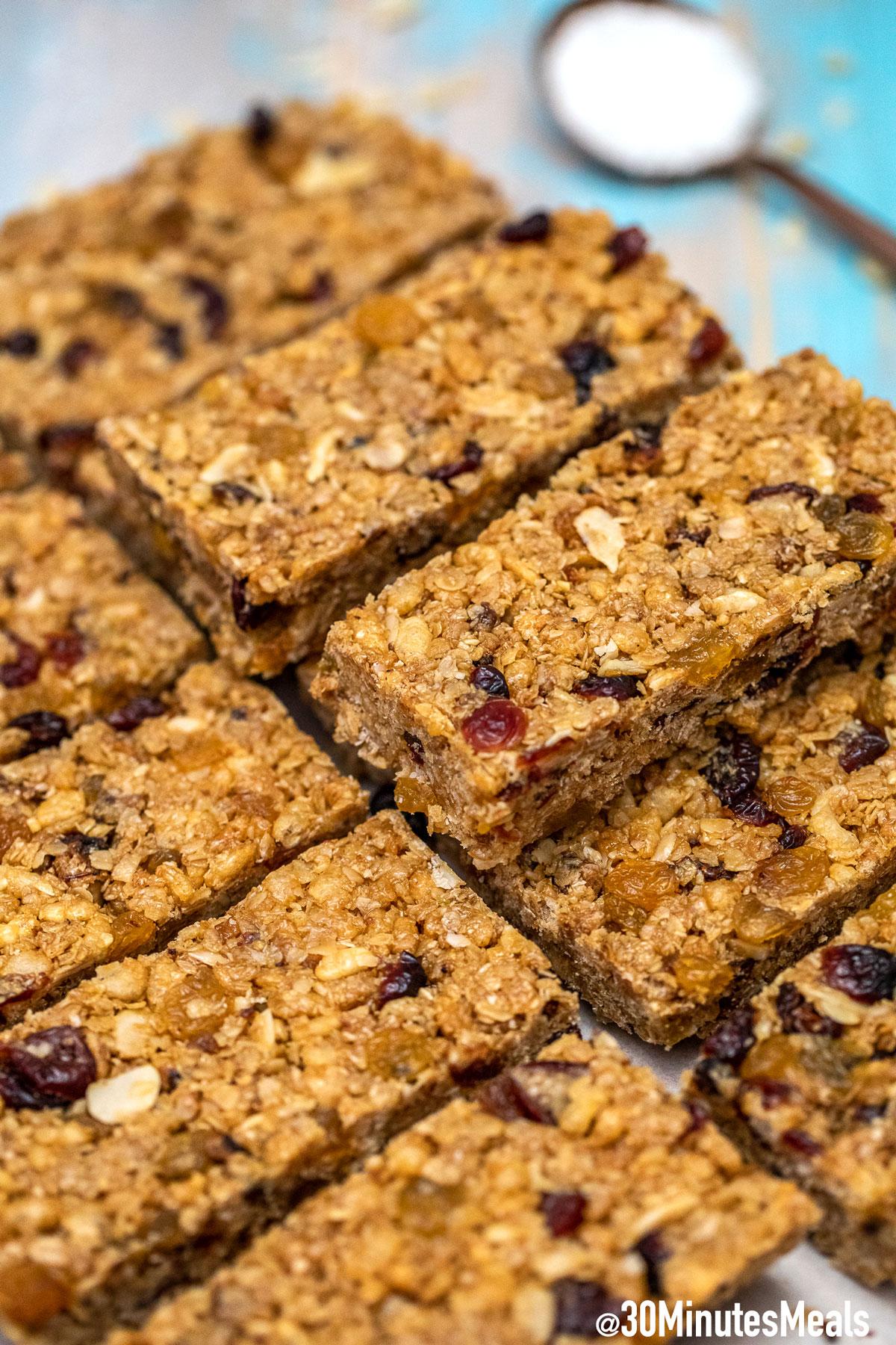 Photo of No Bake Granola Bars Recipe