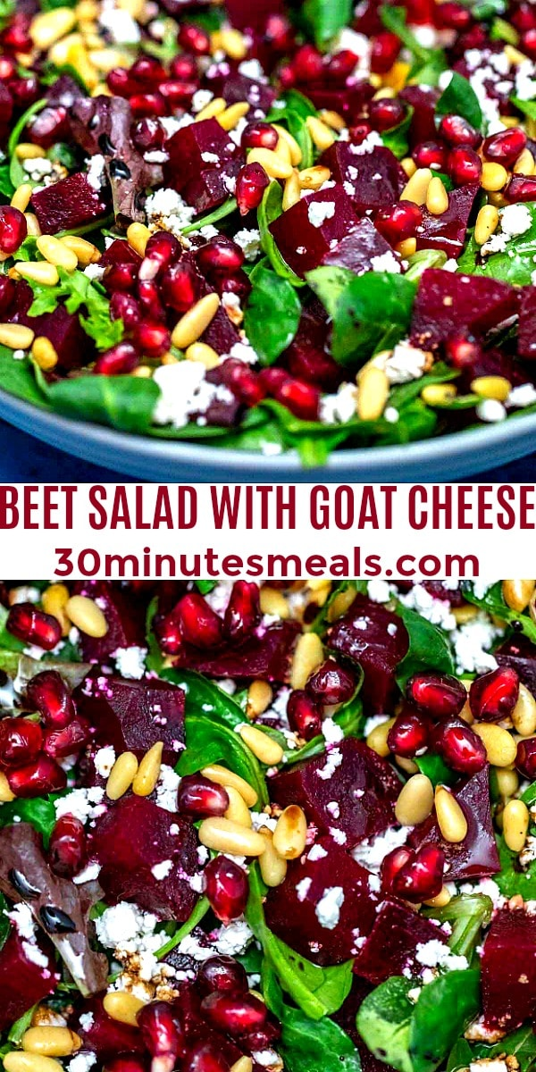 Easy Beet Salad with Goat Cheese pin