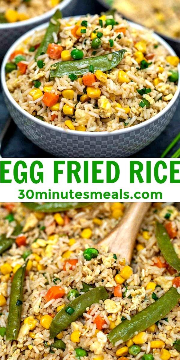 Easy Egg Fried Rice pin