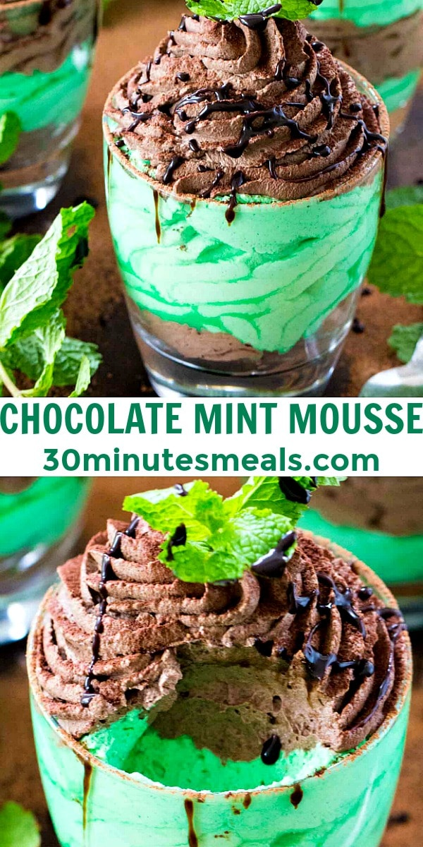 easy chocolate min mousse pin