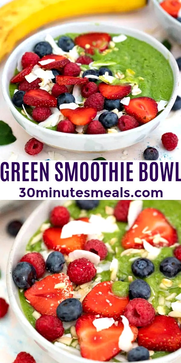 easy green smoothie bowl pin