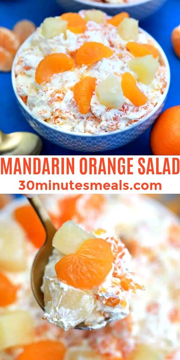 easy mandarin orange salad pin