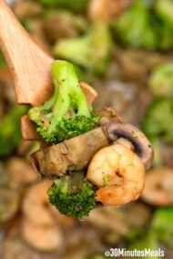 easy shrimp and broccoli