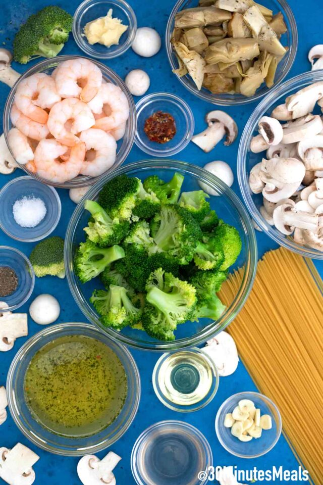 homemade shrimp and broccoli