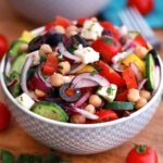 mediterranean salad with olives