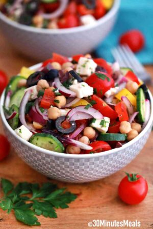 mediterranean salad with olives