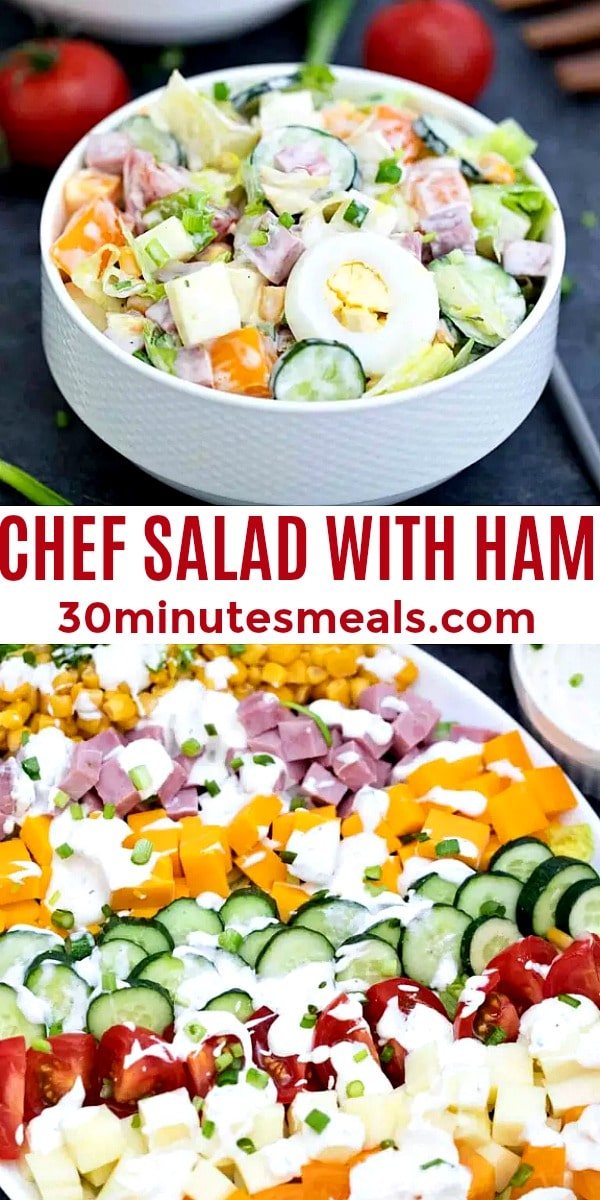 easy chef salad with ham pin