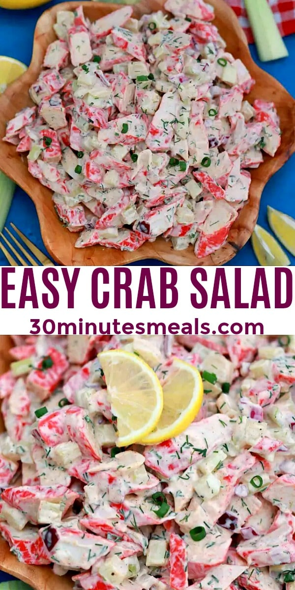 easy homemade crab salad pin